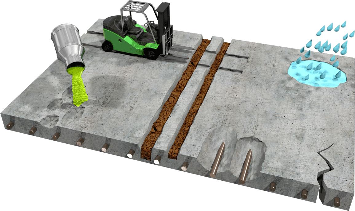 Poruchy betonu
