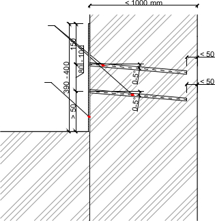 Liniová injektáž zdiva látkou ResiInjekt Cream - 2 řady