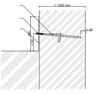 Tlaková liniová injektáž zdiva látkami ResiInjekt SI, DI, ME, VS - 1 řada