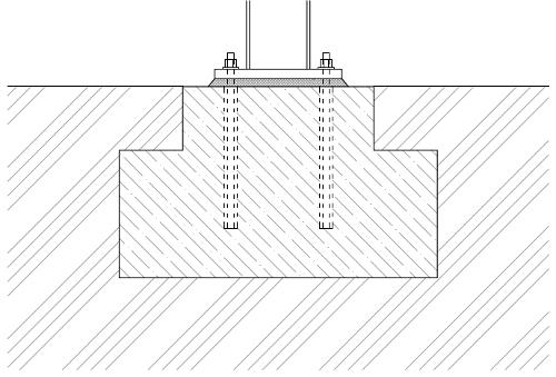 Sanace betonových kontrukcí - podlití patního plechu sloupu