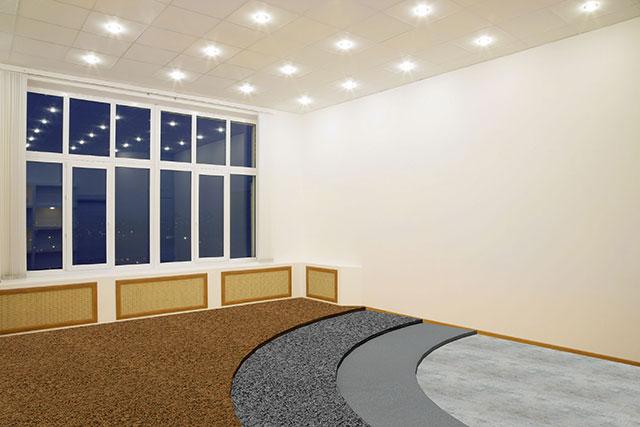 Kamínkový koberec - byt