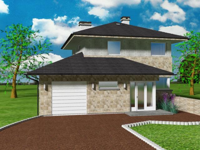 Kamínkový koberec - dům