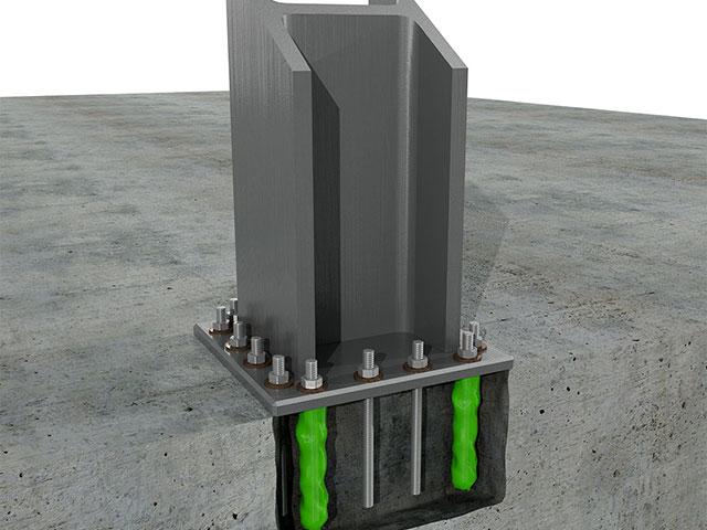 Kotvení ocelových prvků