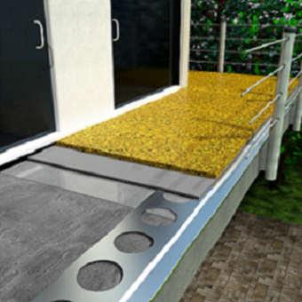 Kamínkový koberec - balkon