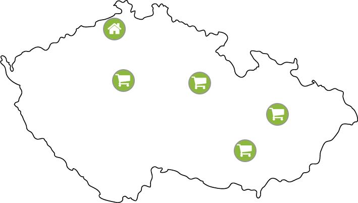 Sanax - mapa poboček